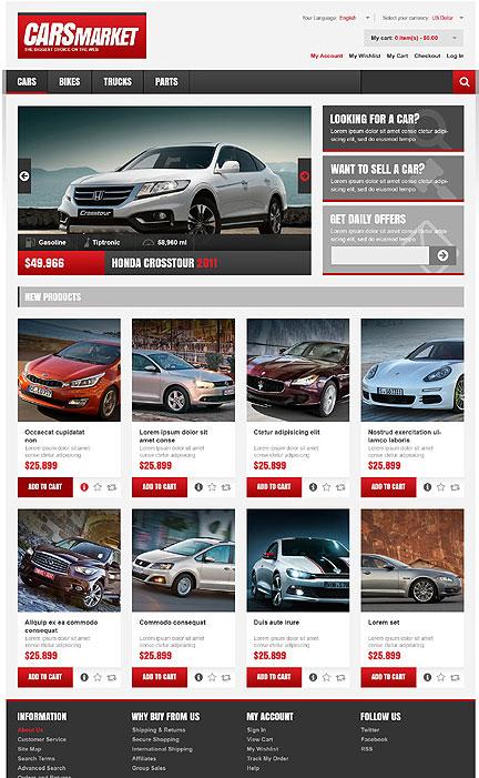 Car Dealership Website Template. car dealer website templates ...